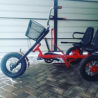 Веломобиль-трицикл двухместный Runner Duo