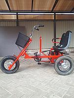 Веломобиль-трицикл двухместный Runner Duo с электродвигателем