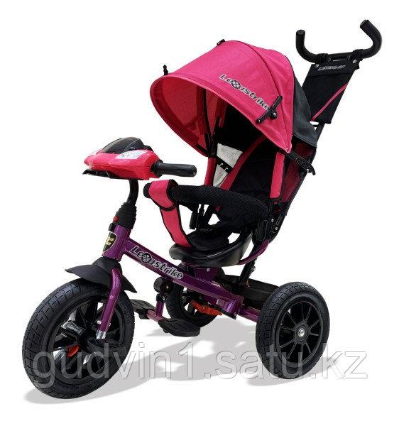 Велосипед 3-х колесный Lexus Trike с музыкальной панелью, розовый 01-12581