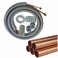 Инсталляция 6*12 полный комплект (трубы+межблочный пятижильный кабель+дренаж+лента) 12-18 модели, фото 1