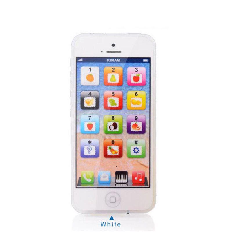 Сенсорный детский телефон, цвет белый