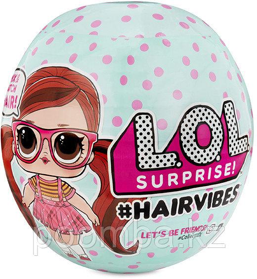 L.O.L. Surprise Кукла ЛОЛ со сменными париками, HairVibes (Оригинал) - Кукла LOL с прядями для причесок
