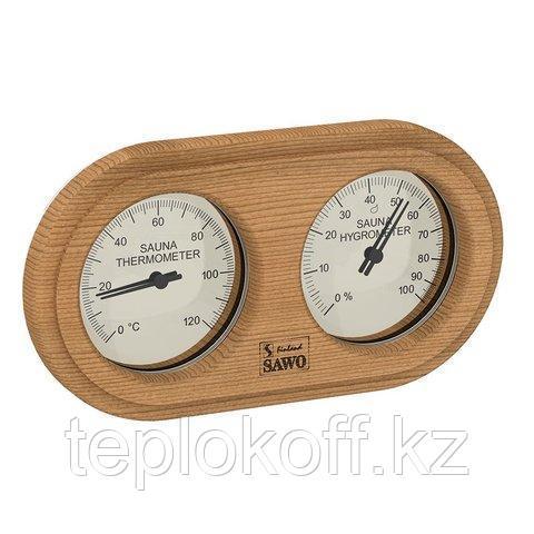 Станция банная Sawo 222-THD, термометр с гигрометром, кедр, 140*225 мм