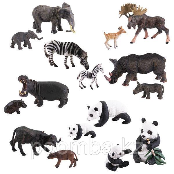 """Фигурка игрушка """"Травоядные с потомством"""", 8 видов (в ассортименте)"""