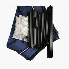 Шкаф тканевый для одежды, цвет синий, фото 3