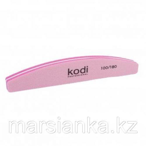 "Баф для ногтей Kodi 100/180 ""полумесяц"" розовый"