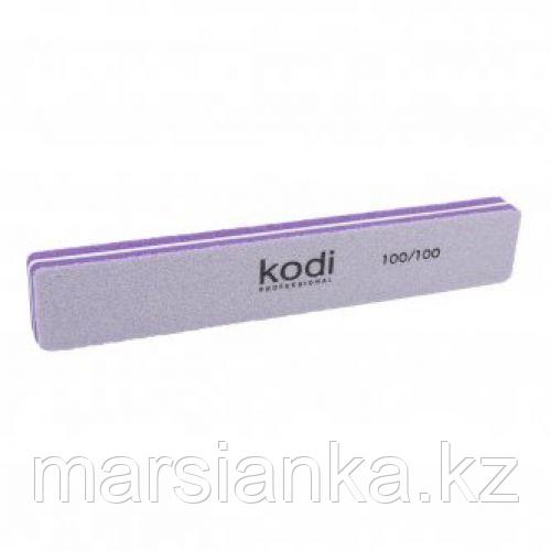 Баф для ногтей прямоугольный Kodi 100/100 фиолетовый