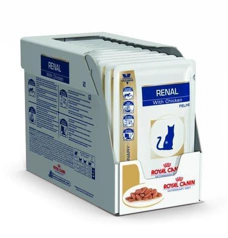 Пауч корм Royal Canin Renal для кошек c хронической почечной недостаточностью (Курица) - 12 x 85 г