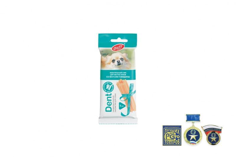 Жевательные снеки Biff DENT для снятия мягкого зубного налета мелких собак, TitBit - 35 г