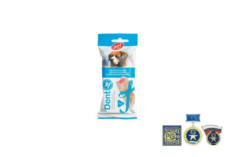 Жевательный снек Biff DENT для снятия мягкого зубного налета крупных собак, TitBit - 75 г