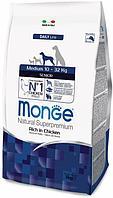Корм Monge Superpremium Medium Adult для взрослых собак, средних пород (Курица) - 3 кг