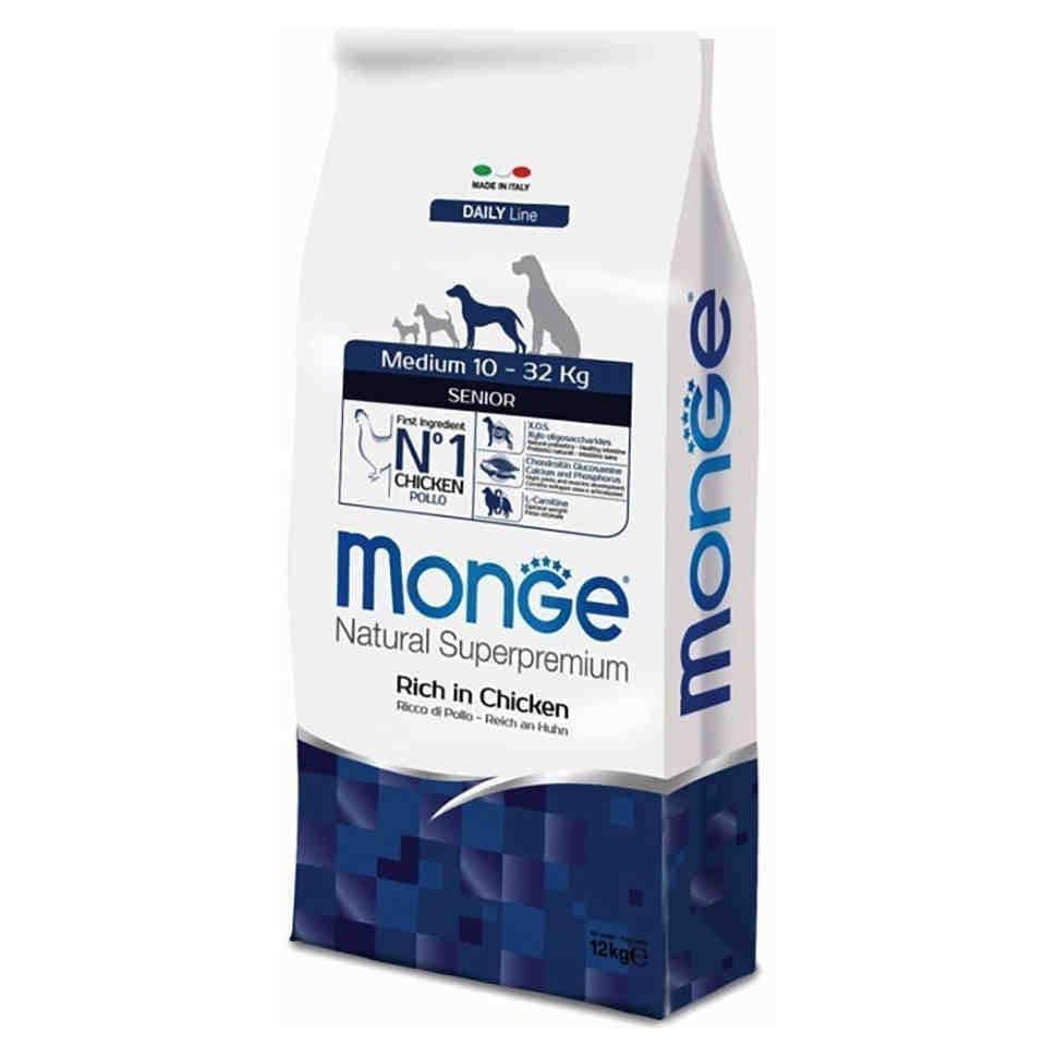 Корм Monge Medium Adult для взрослых собак средних пород (Курица) - 12 кг