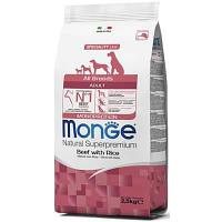 Монобелковый корм Monge All Breed Adult для взрослых собак всех пород (Телятина и рис) - 2.5 кг
