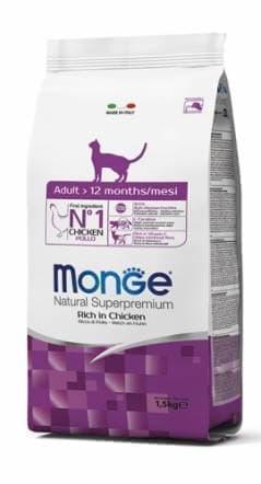 Корм Monge Adult для взрослых кошек (Курица) - 1.5 кг