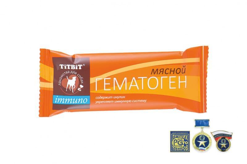 Гематоген мясной Immuno для поддержания иммунитета собак, TitBit - 35 г