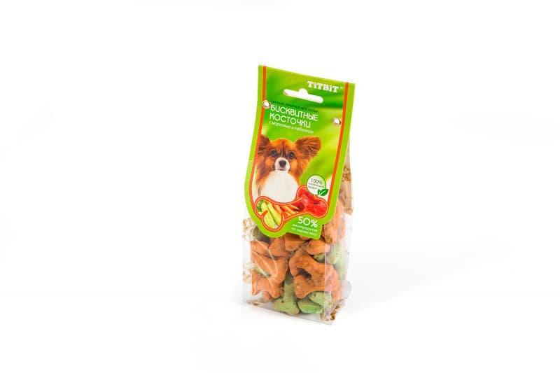 Бисквитные косточки с овощами для собак, TitBit - 100 г