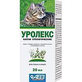 Уролекс капли, при хронических и острых заболеваниях нижних мочевыводящих путей и почек у кошек и со