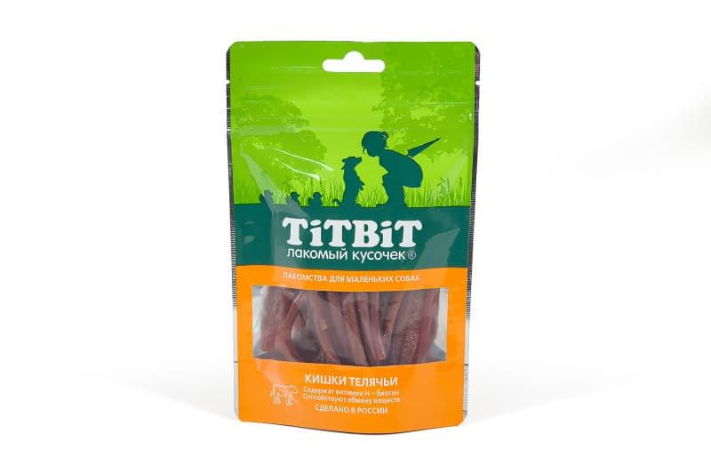 Кишки телячьи с биотином для маленьких собак, TitBit - 50 г