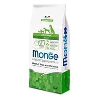 Корм Monge для взрослых собак всех пород с особыми потребностями (Кролик, рис и картофель) - 12 кг