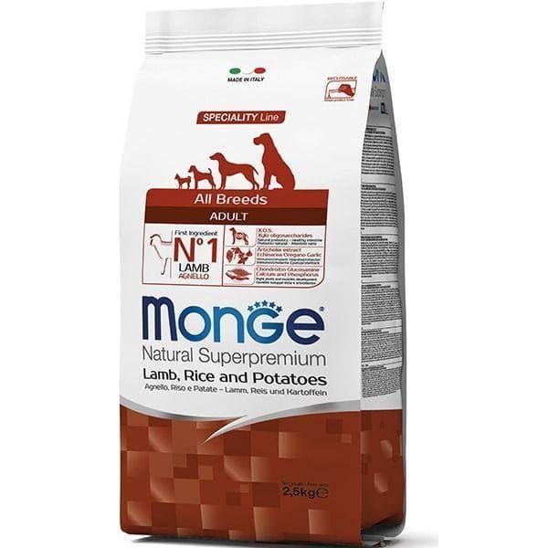 Корм Monge All Breeds для щенков всех пород (Ягненок, рис) - 12 кг