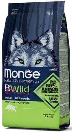Корм Monge BWild для взрослых собак (Дикий кабан) - 2 кг