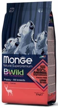 Корм Monge BWild для щенков всех пород собак (Оленина) - 2 кг