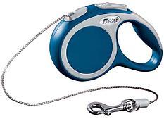 Рулетка Flexi VARIO для собак до 8кг, XS, 3м, трос, голубая