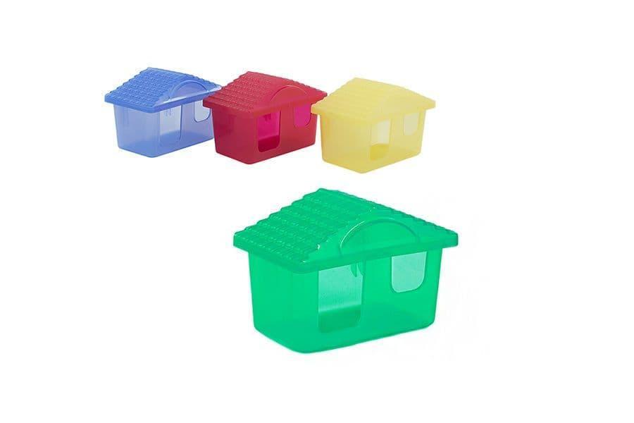Домик для мелких грызунов, прозрачный - 11х8х7 см