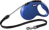 Рулетка Flexi NEW CLASSIC LONG для собак до 12кг, 8м, S, синяя