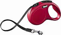 Рулетка Flexi New Classic для собак до 8кг, XS, лента 3 м, красный