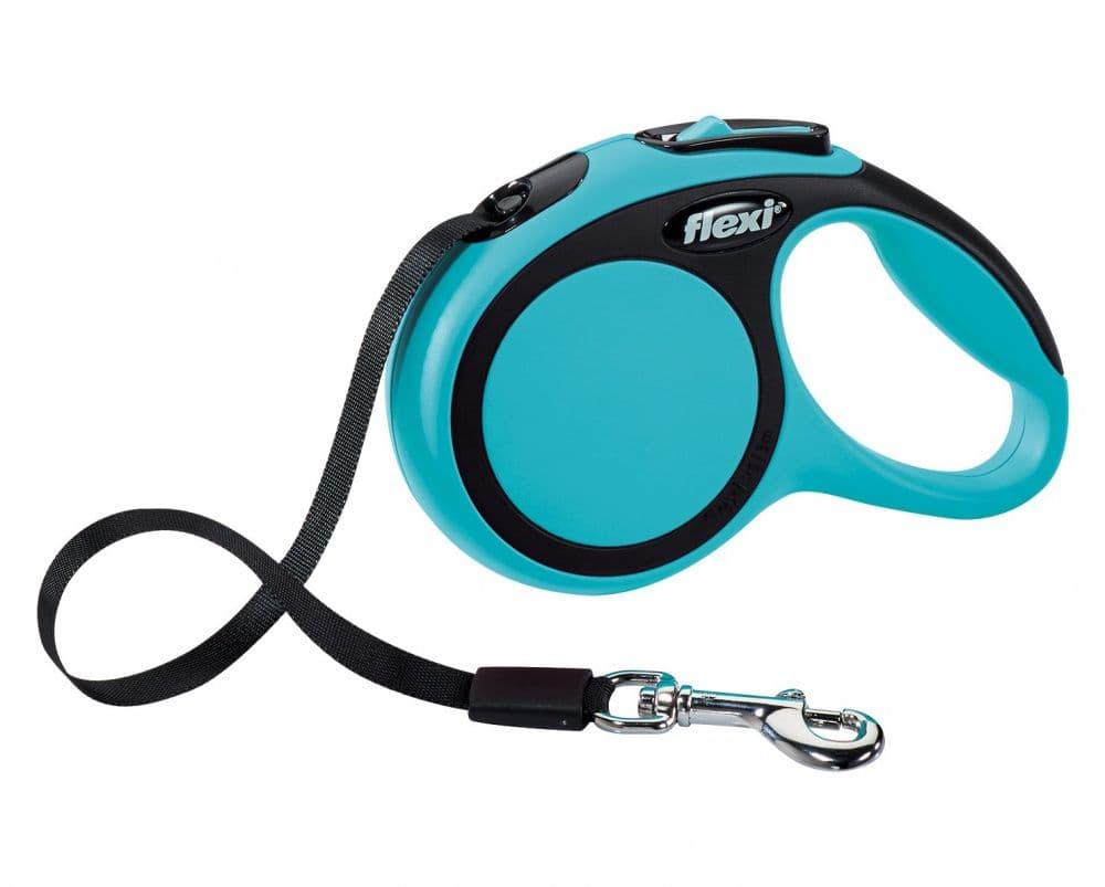 Поводок-рулетка Flexi New Comfort для собак весом до 25 кг, 5м, синий M