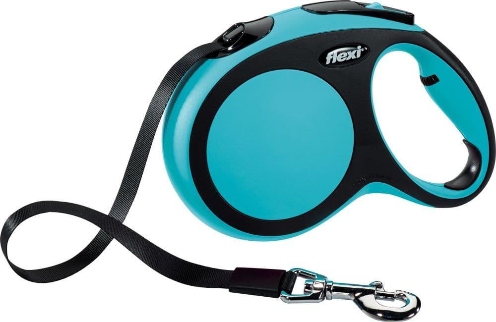 Поводок-рулетка Flexi New Comfort для собак до 25кг, 5 м, синий, M