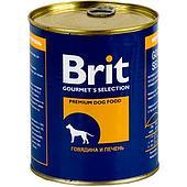 Консерва VAFO PRAHA Brit для взрослых собак (Говядина, печень) - 850 г