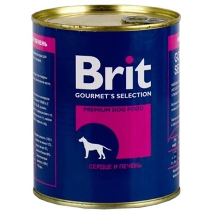 Консерва VAFO PRAHA Brit для взрослых собак (Печень, сердце) - 850 г