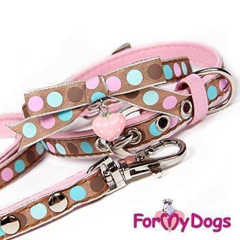 Поводок ForMyDogs для собак, коричневый, 120см