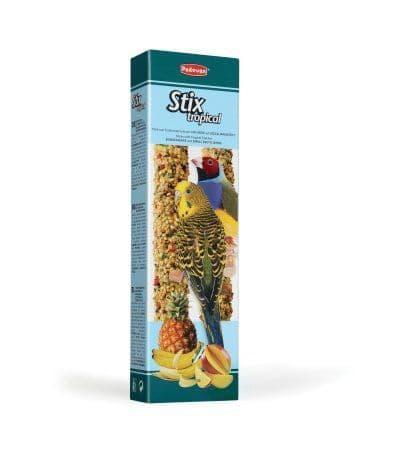 Дополнительный корм Padovan Stix Tropical Cocorite ed Esotici для маленьких экзотических птиц, 80 г