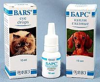 Глазные капли АВЗ «Барс» для кошек и собак - 10 мл