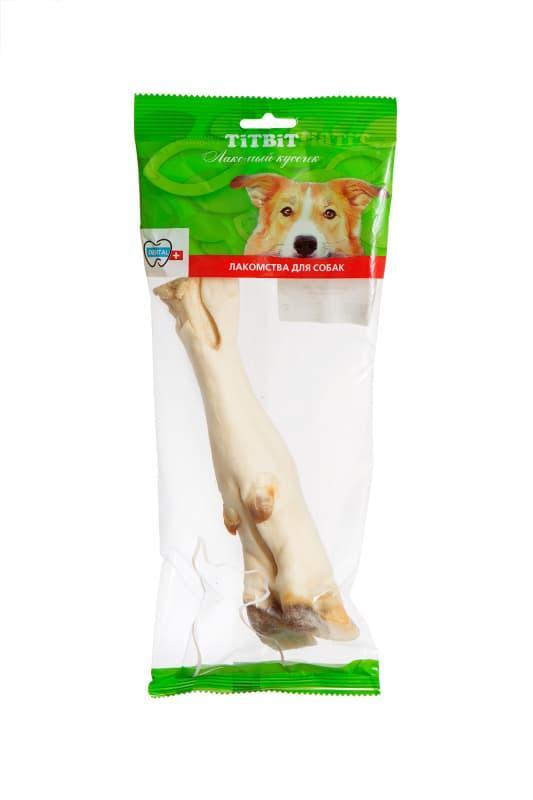 Нога говяжья для массажа десен и чистки зубов собак, TitBit - 85 г