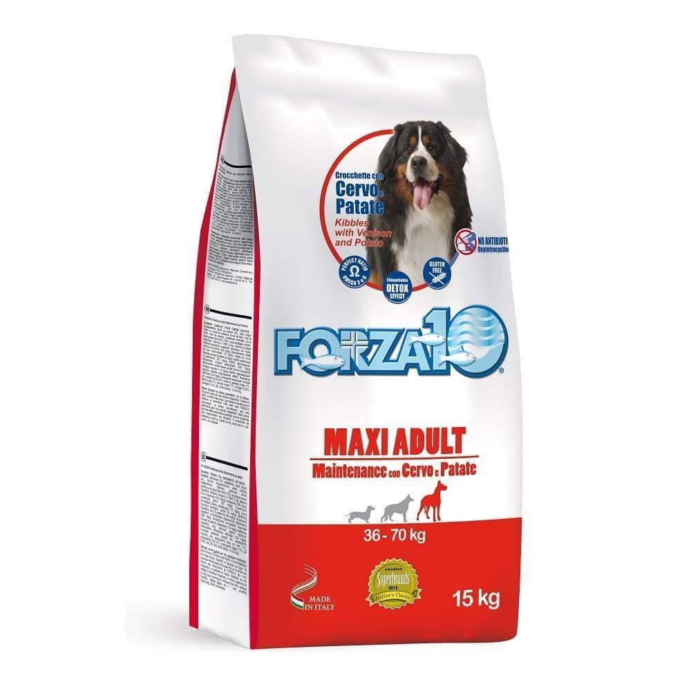 Корм Forza10 Maxi Adult Maintenance для взрослых собак, крупных пород (Оленина с Картофелем) - 15 кг