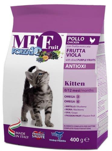 Корм Forza10 Mr. Fruit Kitten Violet для котят (Курица, Фиолетовые Фрукты) - 400 г