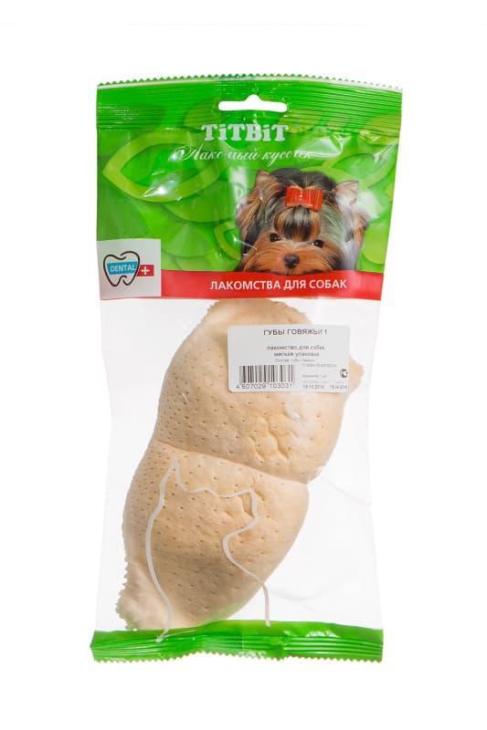 Губы говяжьи для собак, TitBit - 41 г