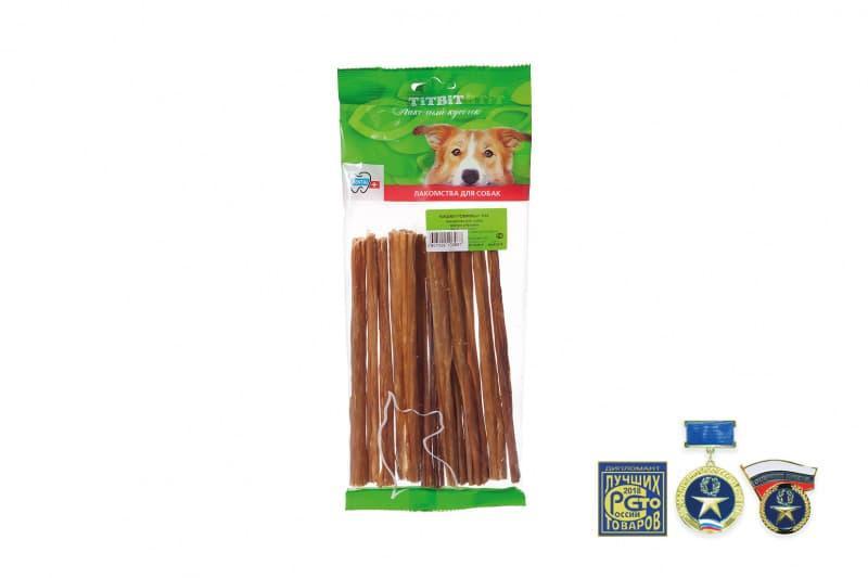 Кишки говяжьи XXL для чистки зубов и стимуляции пищеварения у собак, TitBit - 60 г