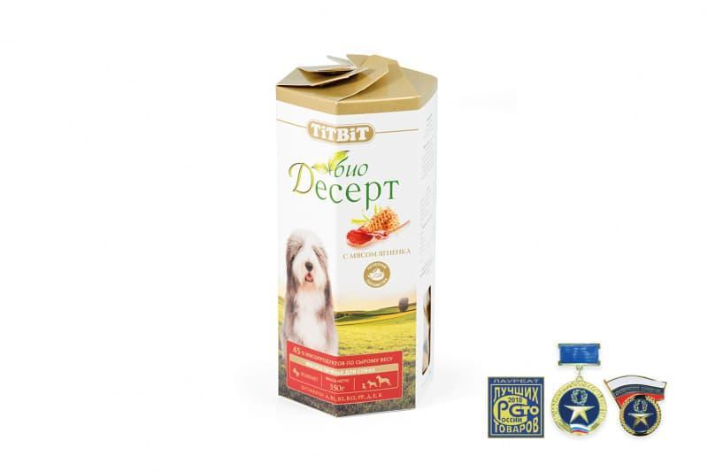 Печенье Стандарт для собак (Ягненок), TitBit - 350 г