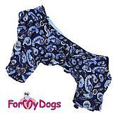 Пыльник ForMyDogs для мальчиков (Синий) - 39-52 см