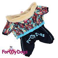 Комбинезон ForMyDogs для мальчиков (Беж/синий) - 8 р