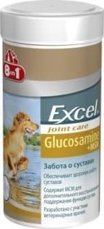 Витамины 8in1 Excel Глюкозамин c MCM для собак, для лечения опорно-двигательного аппарата - 55 таб.