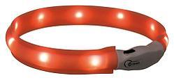 Оранжевый светящийся ошейник для собак мелких и средних пород, XS–S - 35 см