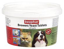 Пивные дрожжи Brewers Yeast Tablets с чесноком для кошек и собак, Beaphar - 250 табл.