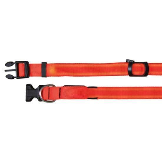 Оранжевый светящийся ошейник для средних пород - 40-55 cм