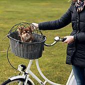 Корзина плетеная велосипедная для перевозки собак